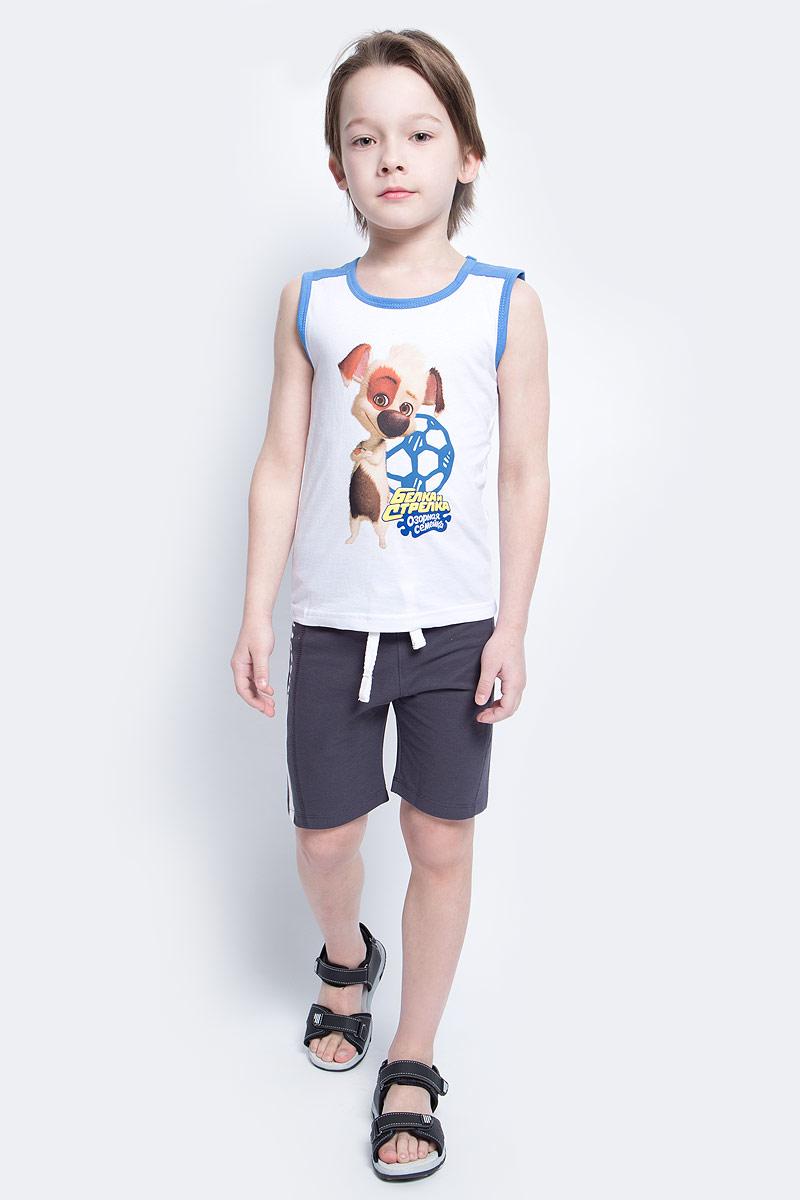 Шорты для мальчика Modniy Juk MJ Soccer, цвет: серый, синий. 10В00070300. Размер 134 джемперы modniy juk джемпер