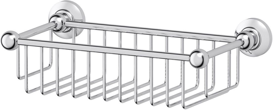 Полочка-решетка для ванной 3SC Stilmar, 31 см, цвет: хром. STI 007 полочка решетка 31 см 3sc stilmar хром sti 007