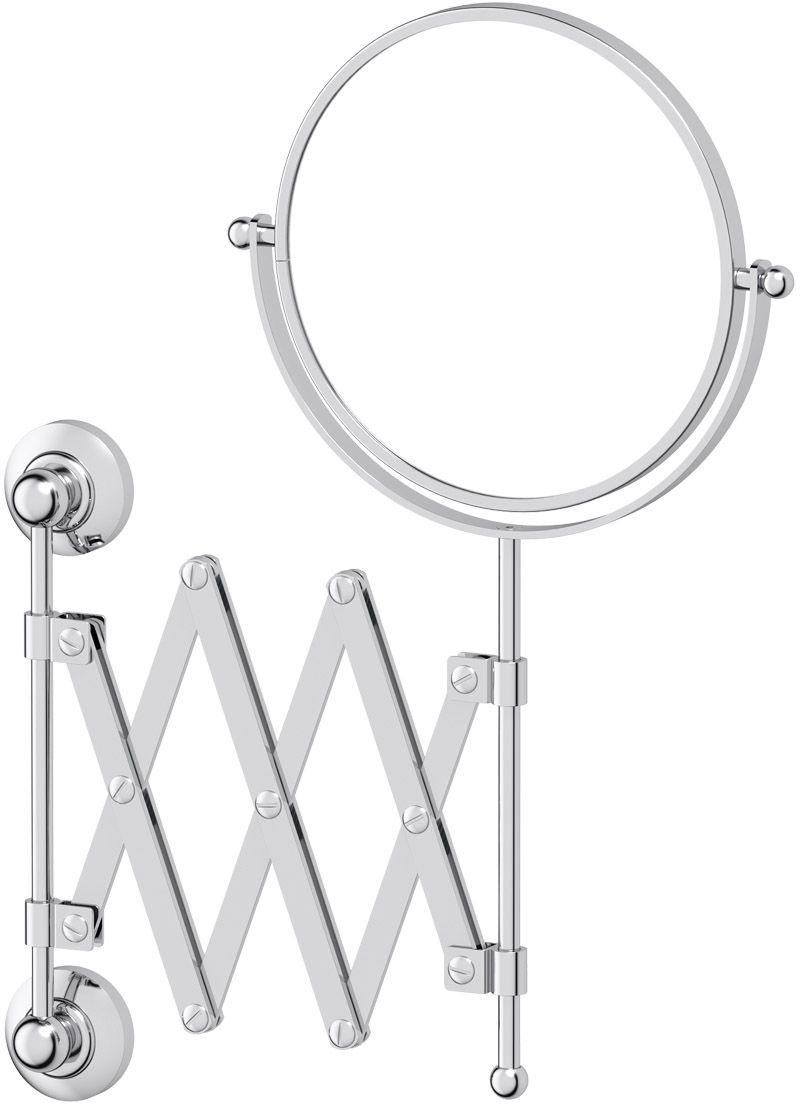 Зеркало косметическое для ванны 3SC Stilmar, цвет: хром. STI 020STI 020Косметическое двустороннее зеркало 3SC Stilmar  для ванной комнаты выполнено из латуни.Дизайн коллекций компании 3SC оригинален и узнаваем. Цель дизайнеров - находить равновесие между эстетикой и функциональностью. Это обдуманная четкая философия, которая проходит через все процессы производства мастерской региона Тоскана. Многолетний опыт, воплощение социальных и культурных традиций, а также постоянный поиск новых решений - все это сконцентрировано в коллекциях 3SC. Особенное внимание уделяется декоративной отделке изделий, которая выполнена умелыми руками настоящих итальянских мастеров. Разнообразие стилей позволяет удовлетворить различные вкусы клиента от классики до хай-тек, давая возможность гармонично сочетать аксессуары с зеркалами и освещением.