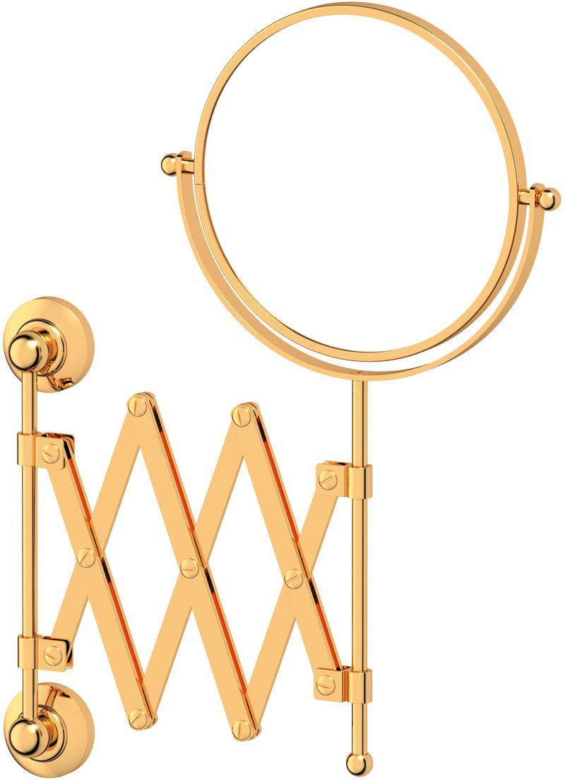 Зеркало косметическое для ванны 3SC Stilmar, цвет: золото. STI 220STI 220Косметическое двустороннее зеркало 3SC Stilmar  для ванной комнаты выполнено из латуни.Дизайн коллекций компании 3SC оригинален и узнаваем. Цель дизайнеров - находить равновесие между эстетикой и функциональностью. Это обдуманная четкая философия, которая проходит через все процессы производства мастерской региона Тоскана. Многолетний опыт, воплощение социальных и культурных традиций, а также постоянный поиск новых решений - все это сконцентрировано в коллекциях 3SC. Особенное внимание уделяется декоративной отделке изделий, которая выполнена умелыми руками настоящих итальянских мастеров. Разнообразие стилей позволяет удовлетворить различные вкусы клиента от классики до хай-тек, давая возможность гармонично сочетать аксессуары с зеркалами и освещением.