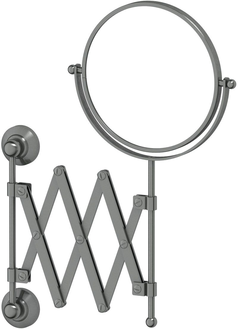 Зеркало косметическое для ванны 3SC Stilmar, цвет: античное сереброSTI 420Косметическое двустороннее зеркало 3SC Stilmar  для ванной комнаты выполнено из латуни.Дизайн коллекций компании 3SC оригинален и узнаваем. Цель дизайнеров - находить равновесие между эстетикой и функциональностью. Это обдуманная четкая философия, которая проходит через все процессы производства мастерской региона Тоскана. Многолетний опыт, воплощение социальных и культурных традиций, а также постоянный поиск новых решений - все это сконцентрировано в коллекциях 3SC. Особенное внимание уделяется декоративной отделке изделий, которая выполнена умелыми руками настоящих итальянских мастеров. Разнообразие стилей позволяет удовлетворить различные вкусы клиента от классики до хай-тек, давая возможность гармонично сочетать аксессуары с зеркалами и освещением.