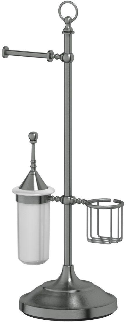 Стойка комбинированная для туалета 3SC Stilmar Un, цвет: античное серебро. STI 434STI 434Дизайн коллекций компании 3SC оригинален и узнаваем. Цель дизайнеров — находить равновесие между эстетикой и функциональностью. Это обдуманная четкая философия, которая проходит через все процессы производства мастерской региона Тоскана.Многолетний опыт, воплощение социальных и культурных традиций, а также постоянный поиск новых решений?– все это сконцентрировано в коллекциях 3SC. Особенное внимание уделяется декоративной отделке изделий, которая выполнена умелыми руками настоящих итальянских мастеров. Разнообразие стилей позволяет удовлетворить различные вкусы клиента от «классики» до «хай-тек», давая возможность гармонично сочетать аксессуары с зеркалами и освещением.