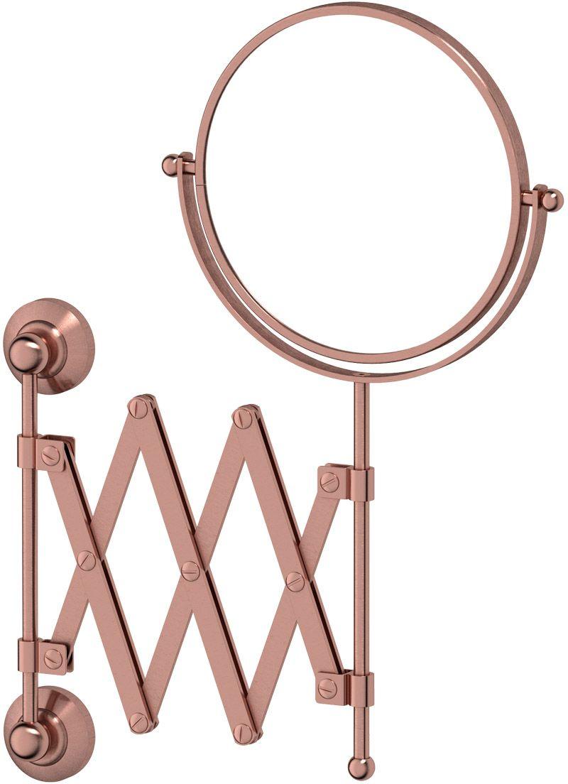 Зеркало косметическое для ванны 3SC Stilmar, цвет: античная медьSTI 620Косметическое двустороннее зеркало 3SC Stilmar  для ванной комнаты выполнено из латуни.Дизайн коллекций компании 3SC оригинален и узнаваем. Цель дизайнеров - находить равновесие между эстетикой и функциональностью. Это обдуманная четкая философия, которая проходит через все процессы производства мастерской региона Тоскана. Многолетний опыт, воплощение социальных и культурных традиций, а также постоянный поиск новых решений - все это сконцентрировано в коллекциях 3SC. Особенное внимание уделяется декоративной отделке изделий, которая выполнена умелыми руками настоящих итальянских мастеров. Разнообразие стилей позволяет удовлетворить различные вкусы клиента от классики до хай-тек, давая возможность гармонично сочетать аксессуары с зеркалами и освещением.