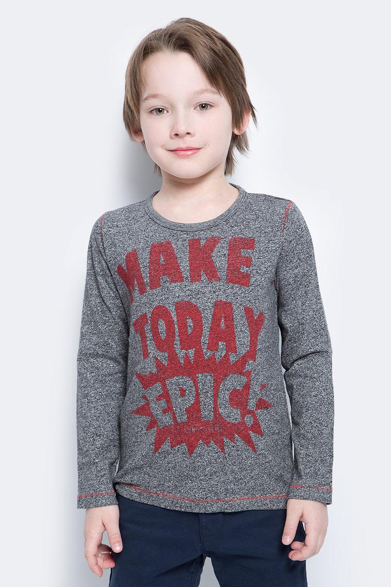Лонгслив для мальчика Tom Tailor, цвет: серый. 1034590.00.82_1000. Размер 116/122