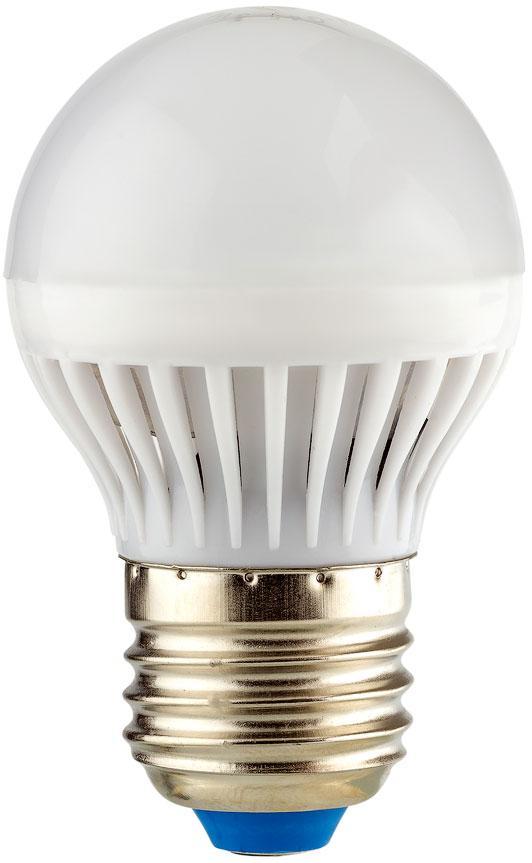 """Энергосберегающая светодиодная лампа """"REV"""" используется как в бытовых осветительных приборах, так и для освещения общественных и служебных помещений. Потребляемая мощность энергосберегающих ламп в 5-10 раз ниже, чем у обычных ламп накаливания при той же интенсивности свечения. Тип лампы: LED.Цоколь: Е27.Потребляемая мощность: 5 Вт.Световой поток: 400 Лм.Цветовая температура: 2700 K.Номинальное напряжение: 220-240 В.Свечение: теплый свет.Диаметр: 4,5 см.Высота: 7,8 см.Срок службы: 30000 часов."""