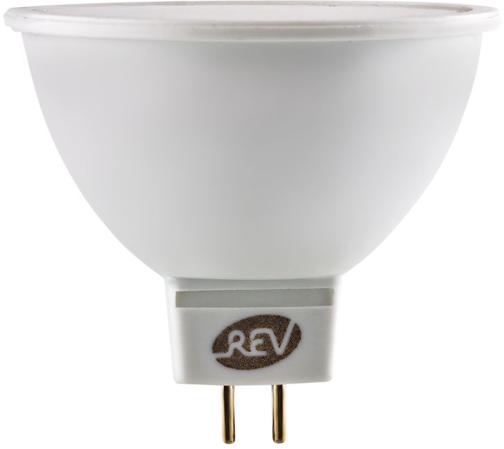 Лампа светодиодная REV, теплый свет, цоколь GU5.3, 7W, 3000 K. 32324 2 лампа светодиодная rev холодный свет цоколь gu10 7w 4000 k 32331 0
