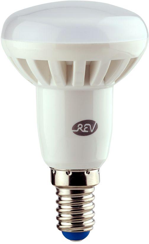 """Энергосберегающая светодиодная лампа """"REV"""" используется как в бытовых осветительных приборах, так и для освещения общественных и служебных помещений. Потребляемая мощность энергосберегающих ламп в 5-10 раз ниже, чем у обычных ламп накаливания при той же интенсивности свечения. Энергосберегающая светодиодная лампа в форме R50 теплого свечения. Интенсивность свечения аналогична обычной лампе накаливания мощностью 40 Вт. Срок службы 30 000 часов. Номинальное напряжение 220-240 В."""