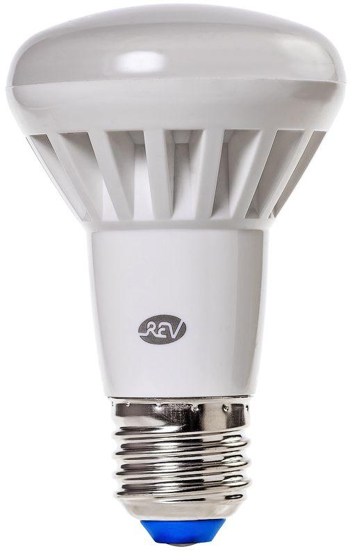 """Энергосберегающая светодиодная лампа """"REV"""" используется как в бытовых осветительных приборах, так и для освещения общественных и служебных помещений. Потребляемая мощность энергосберегающих ламп в 5-10 раз ниже, чем у обычных ламп накаливания при той же интенсивности свечения. Энергосберегающая светодиодная лампа в форме R63 теплого свечения. Интенсивность свечения аналогична обычной лампе накаливания мощностью 65 Вт. Срок службы 30 000 часов. Номинальное напряжение 220-240 В."""
