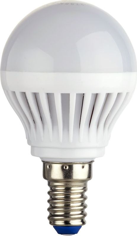 Энергосберегающая светодиодная лампа шаровидной формы теплого свечения. Потребляемая мощность 3Вт. Интенсивность свечения аналогична обычной лампе накаливания мощностью 25Вт. Цоколь Е14. Срок службы 30000 час. Световой поток 260Лм, цветовая температура 2700К. Напряжение 220В. Гарантия 24 месяца.