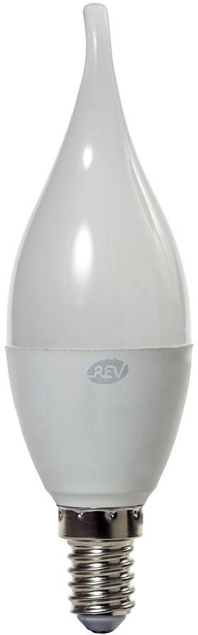 """Энергосберегающая светодиодная лампа """"REV"""" используется как в бытовых осветительных приборах, так и для освещения общественных и служебных помещений. Потребляемая мощность энергосберегающих ламп в 5-10 раз ниже, чем у обычных ламп накаливания при той же интенсивности свечения. Энергосберегающая светодиодная лампа в форме """"свеча на ветру"""" холодного свечения. Интенсивность свечения аналогична обычной лампе накаливания мощностью 60 Вт. Срок службы 30 000 часов. Номинальное напряжение 220-240 В."""
