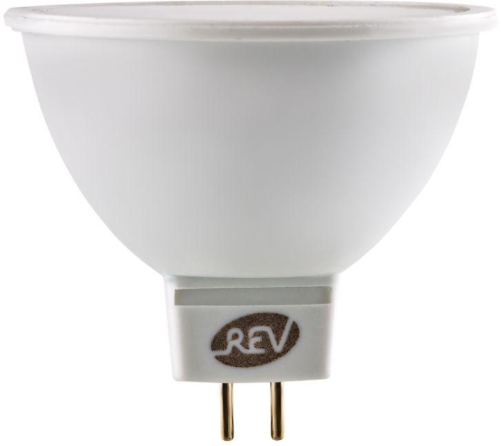"""Энергосберегающая светодиодная лампа """"REV"""" используется как в бытовых осветительных приборах, так и для освещения общественных и служебных помещений. Потребляемая мощность энергосберегающих ламп в 5-10 раз ниже, чем у обычных ламп накаливания при той же интенсивности свечения. Энергосберегающая светодиодная лампа в форме MR16 холодного свечения. Интенсивность свечения аналогична обычной лампе накаливания мощностью 60 Вт. Срок службы 30 000 часов. Номинальное напряжение 12 В."""