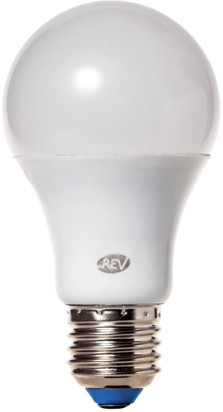 """Энергосберегающая светодиодная лампа """"REV"""" используется как в бытовых осветительных приборах, так и для освещения общественных и служебных помещений. Потребляемая мощность энергосберегающих ламп в 5-10 раз ниже, чем у обычных ламп накаливания при той же интенсивности свечения. Тип лампы: LED.Цоколь: Е27.Потребляемая мощность: 8.5 Вт.Световой поток: 680 Лм.Цветовая температура: 2700 K.Номинальное напряжение: 220-240 В.Свечение: теплый.Диаметр: 6 см.Высота: 11 см.Срок службы: 30000 часов."""