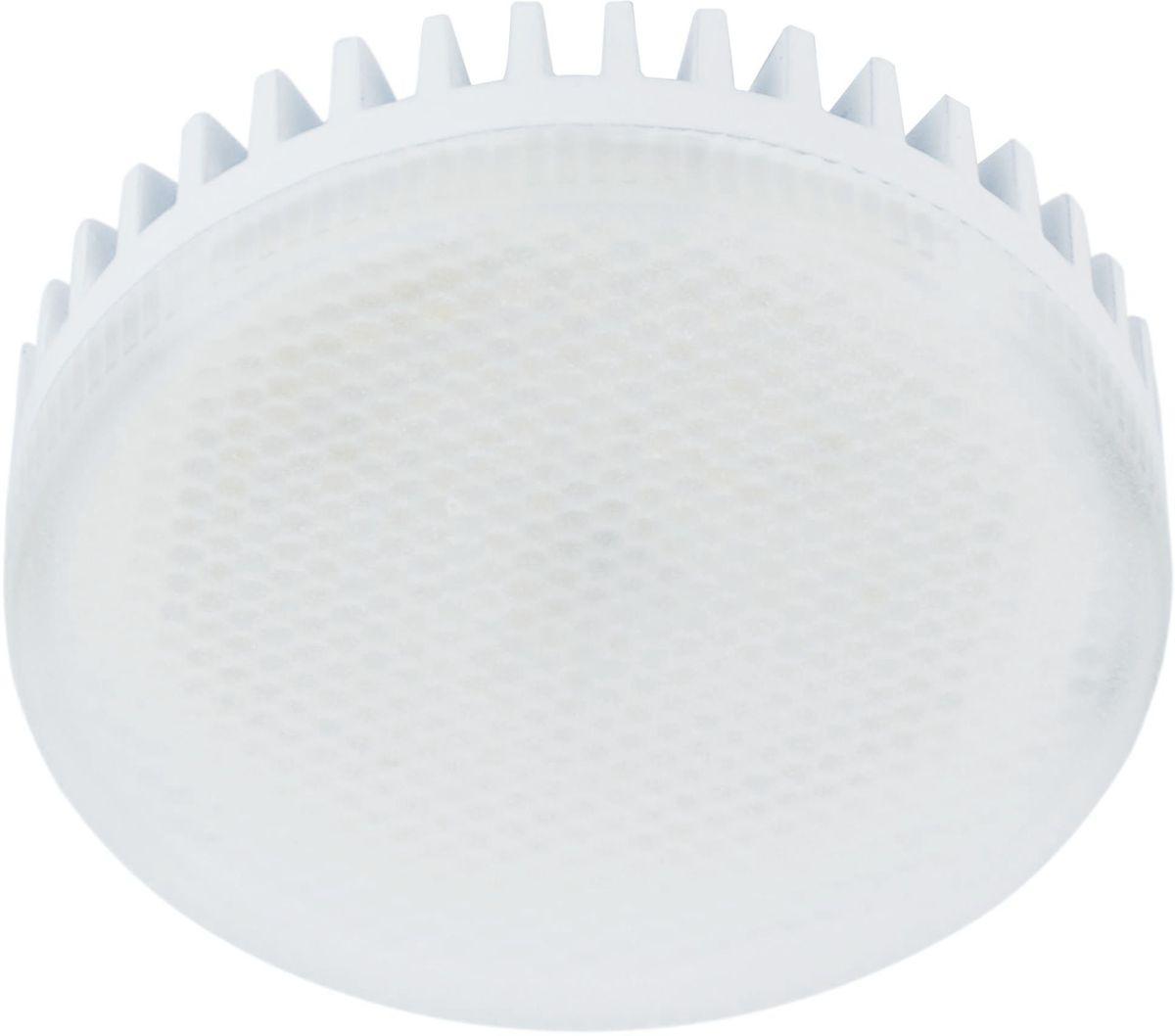 Лампа светодиодная REV, теплый свет, цоколь GX53, 8W. 32 932 9Энергосберегающая светодиодная лампа REV используется как в бытовых осветительных приборах, так и для освещения общественных и служебных помещений. Потребляемая мощность энергосберегающих ламп в 5-10 раз ниже, чем у обычных ламп накаливания при той же интенсивности свечения.Энергосберегающая светодиодная лампа в форме шайбы теплого свечения. Интенсивность свечения аналогична обычной лампе накаливания мощностью 75 Вт. Срок службы 30 000 часов. Номинальное напряжение 220-240 В.