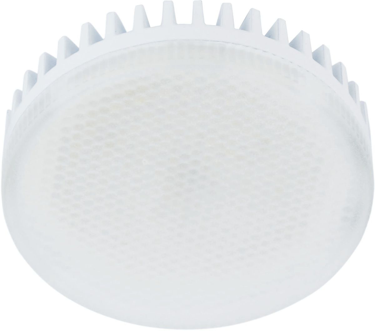 Лампа светодиодная REV, теплый свет, цоколь GX53, 10W. 32567 332567 3Энергосберегающая светодиодная лампа REV используется как в бытовых осветительных приборах, так и для освещения общественных и служебных помещений. Потребляемая мощность энергосберегающих ламп в 5-10 раз ниже, чем у обычных ламп накаливания при той же интенсивности свечения. Энергосберегающая светодиодная лампа в форме шайбы теплого свечения. Интенсивность свечения аналогична обычной лампе накаливания мощностью 100 Вт. Срок службы 30 000 часов. Номинальное напряжение 220-240 В.