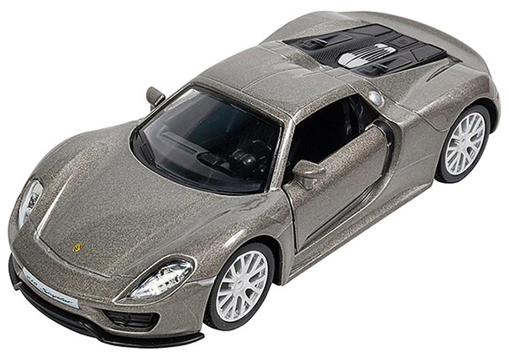 Pitstop Модель автомобиля Porsche 918 Spyder цвет серебристый радиоуправляемая игрушка rastar porshe 918 spyder 1 24 71400