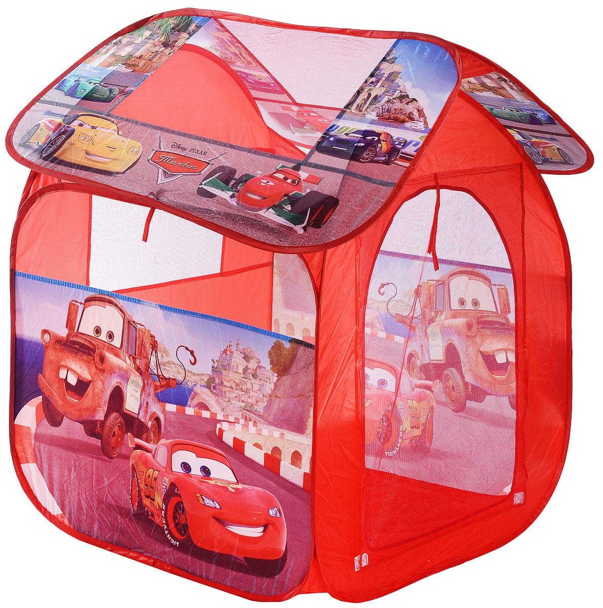 Играем вместе Детская игровая палатка Тачки 83 х 80 х 105 см - Игры на открытом воздухе