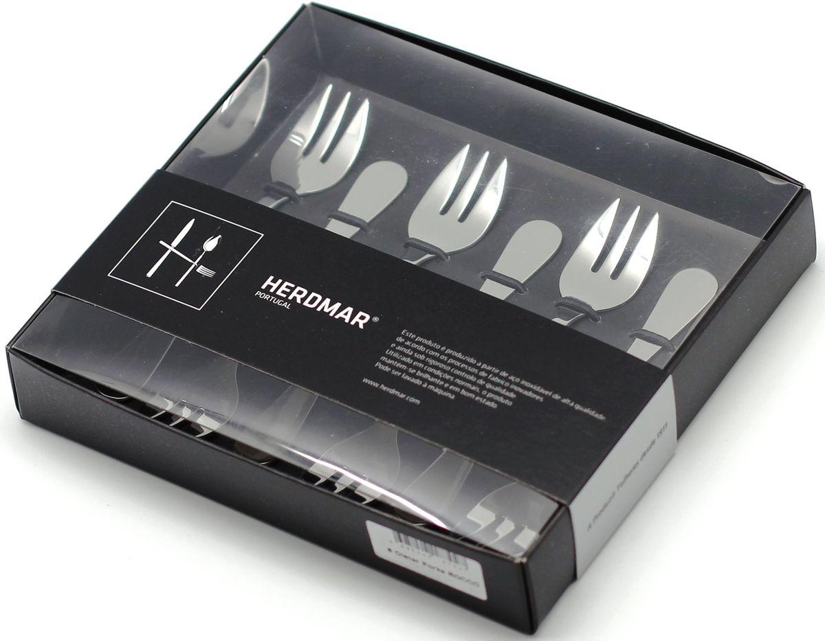 Набор для устриц Herdmar Rocco, цвет: серебристый, 6 предметов89464701170100000Набор вилок Herdmar Rocco - это сочетание высокого качества и стильного дизайна. Этот набор подойдет для сервировки праздничного стола или дополнит набор ваших кухонных принадлежностей и хорошо впишется в дизайн современной кухни. Набор рассчитан на 6 персон.Приборы выполнены из нержавеющей стали с добавлением 18% хрома и 10% никеля, поэтому они устойчивы к внешним повреждениям и окислению.