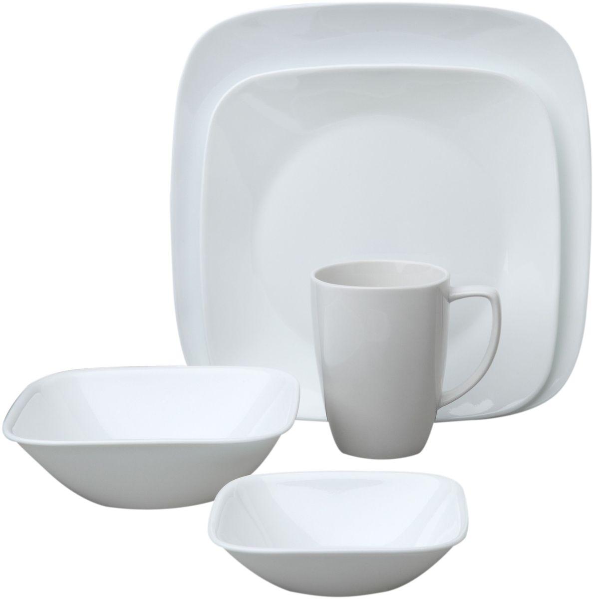 Набор столовой посуды Corelle Pure White, 16 предметов. 10699581069958Посуда Corelle мирового бренда WorldKitchen сделана из материала Vitrelle. Стекло Vitrelle является экологически чистым материалом без посторонних добавок. Идеальный белый цвет посуды достигается путем сверхвысокой термической обработки компонентов. Vitrelle сверхпрочный материал, используемый для столовой посуды, изобретенный в начале 1970х в Соединенных Штатах Америки. Материал сделан из трех слоев стекла спеченных вместе. Посуда Vitrelle тонка и легка при том, что является более ударопрочной по сравнению с обычной столовой посудой. Соль, полевой шпат, известняк, и 2 других вида соли попадают в печь, где при 1400 градусов Цельсия превращаются в жидкое стекло. Стекло заливается в молды, где соединяются 3 слоя в один. Края посуды обрабатываются огненной полировкой. Проходя через дополнительную обработку, три слоя приобретают сверхпрочность. Путем шелкографии на днище наносится бренд, а так же дополнительная информация. Узор на посуде так же наносится путем шелкографии. Готовая посуда подвергается воздействию 800 градусов для закрепления узора. В конце посуда обрабатывается спреем на основе силикона для исключения царапин при транспортировке.