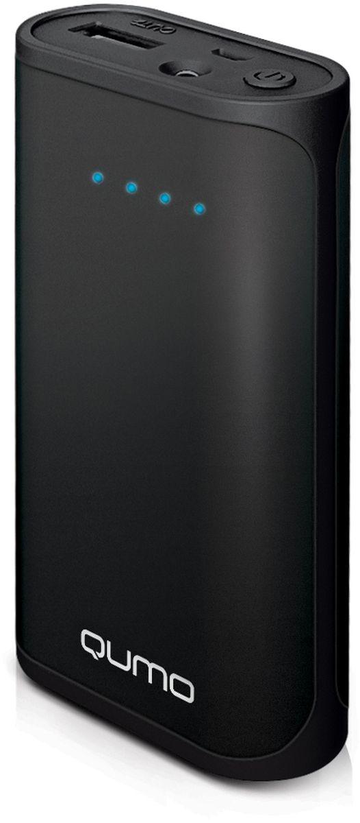 Qumo PowerAid 5200, Black внешний аккумулятор22064Внешний аккумулятор Qumo PowerAid 5200 емкостью 5200 мА-ч выполнен в корпусе из ударопрочного, негорючего Soft Touch пластика. Встроенный фонарик является приятным дополнением к основной функции (подзарядка портативных устройств). Светодиодная индикация позволит быстро определить оставшийся заряд аккумулятора. Надежная плата защитит как внешний аккумулятор так и заряжаемое устройство от основных опасностей (короткое замыкание, избыточный ток, избыточное напряжение, недостаток напряжения, полная разрядка, избыточный заряд, перегрев)