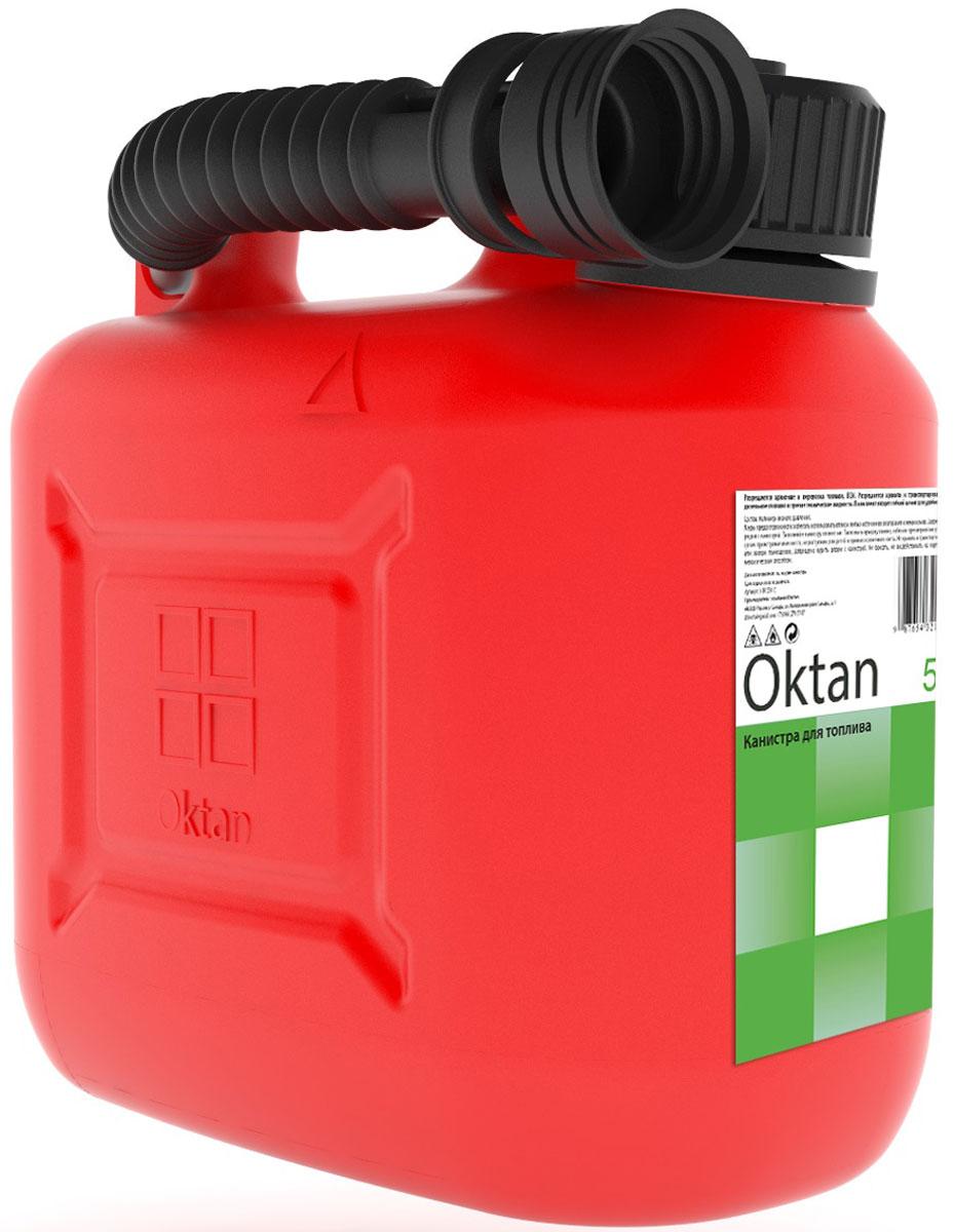 Канистра пластиковая Oktan, для ГСМ, 5 л канистра для гсм stels вертикальная усиленная цвет темно зеленый 5 л