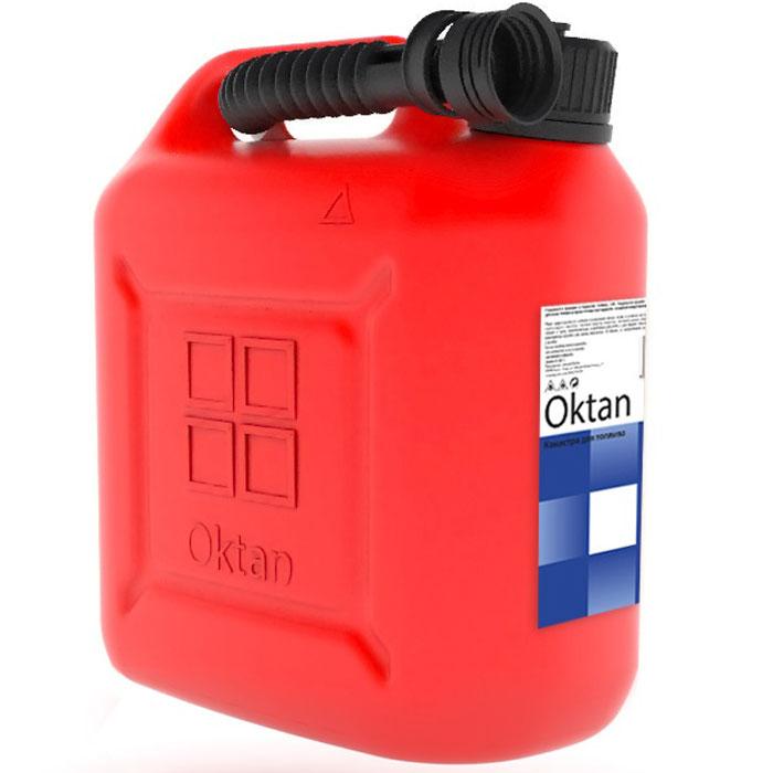 Канистра OKTAN, для ГСМ, 10 лred 10.01.01.00-1Канистра OKTAN выполнена из пластика. Такие канистры пригодны для бензина и масла, не накапливают статистический заряд и сертифицированы в соответствии с законом о пожарной безопасности РФ. Канистры производятся на современном российском предприятии из первичного сырья. Материал: ПЭНДОбъем: 10 л.