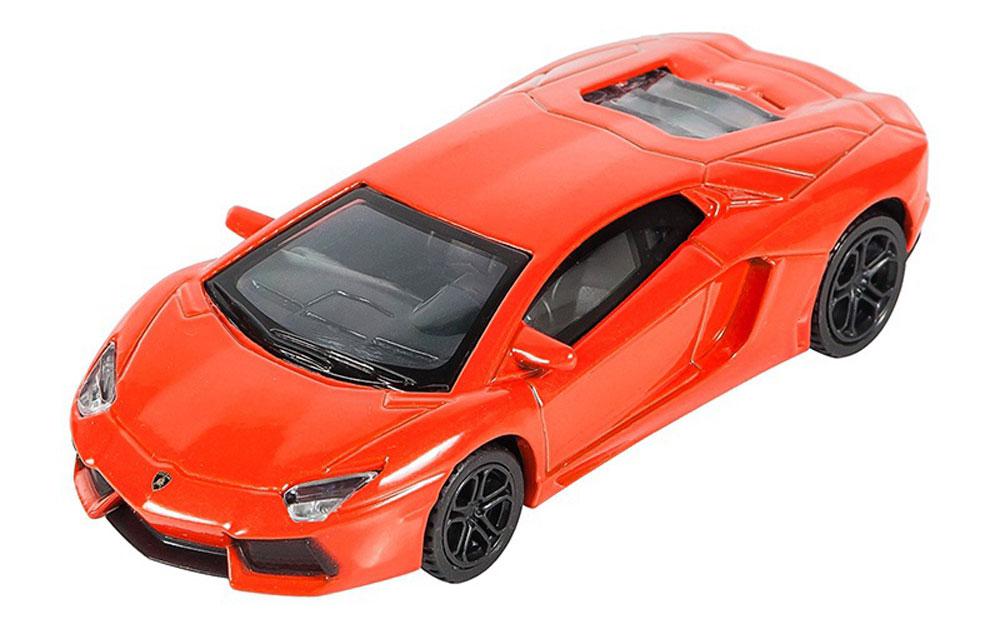 Pitstop Модель автомобиля Lamborghini Aventador LP-700-4 цвет оранжевый pitstop модель автомобиля range rover evoque цвет белый