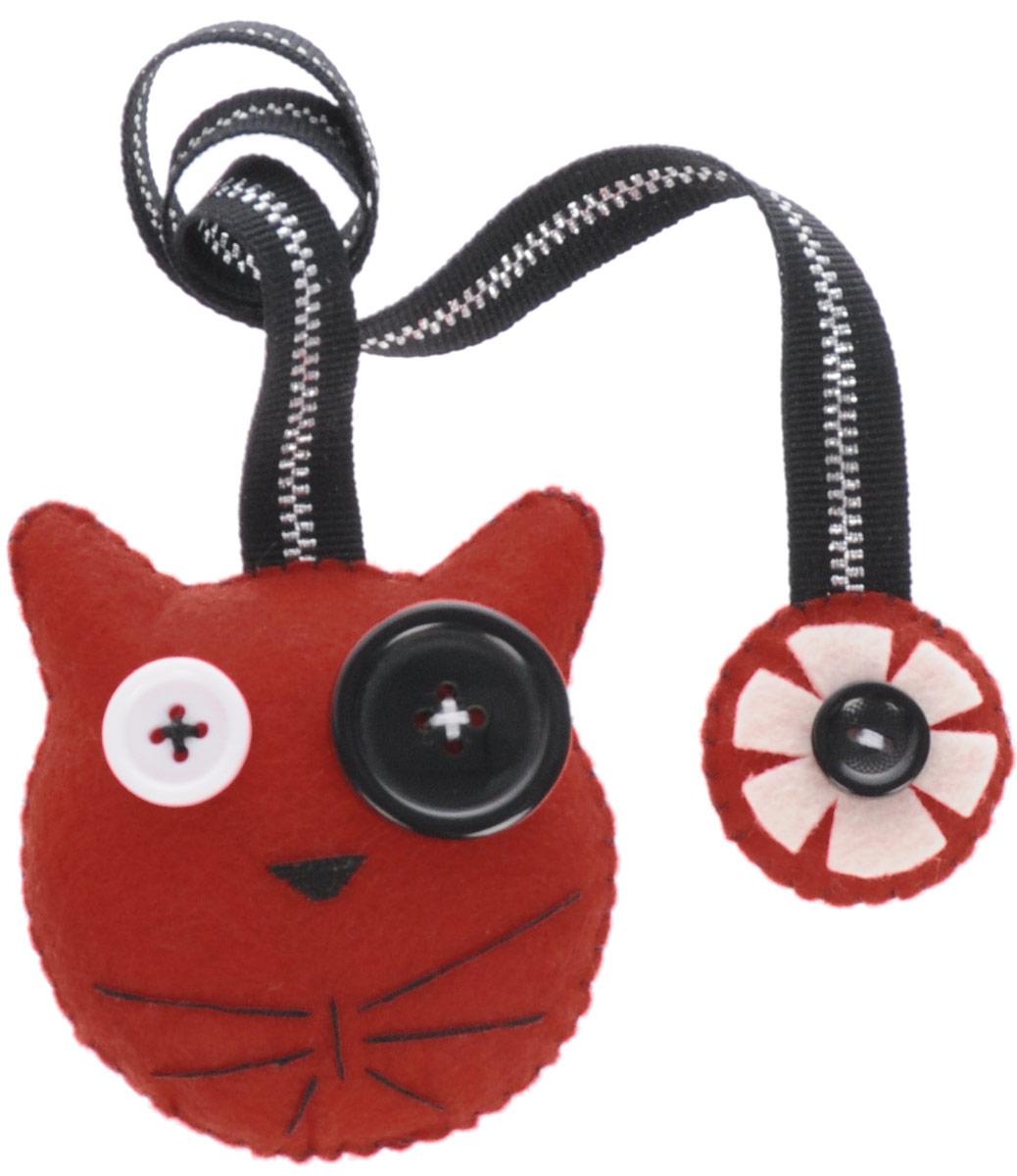 Закладка книжная Кот-британец. Красный, 6,5 см х 6,5 см. Ручная работа. Автор Леся Келба43566Kelba - это творческая мастерская кукол и игрушек. Игрушка-закладка выполнена из текстиля в виде кота.