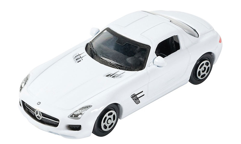 Pitstop Модель автомобиля Mercedes-Benz SLS AMG цвет белый bburago модель автомобиля mercedes benz sls amg roadster