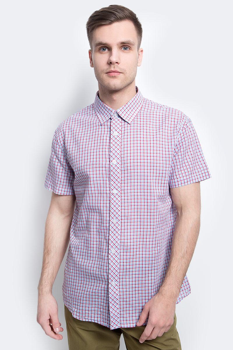 цена на Рубашка мужская Finn Flare, цвет: голубой. S17-22015_138. Размер L (50)