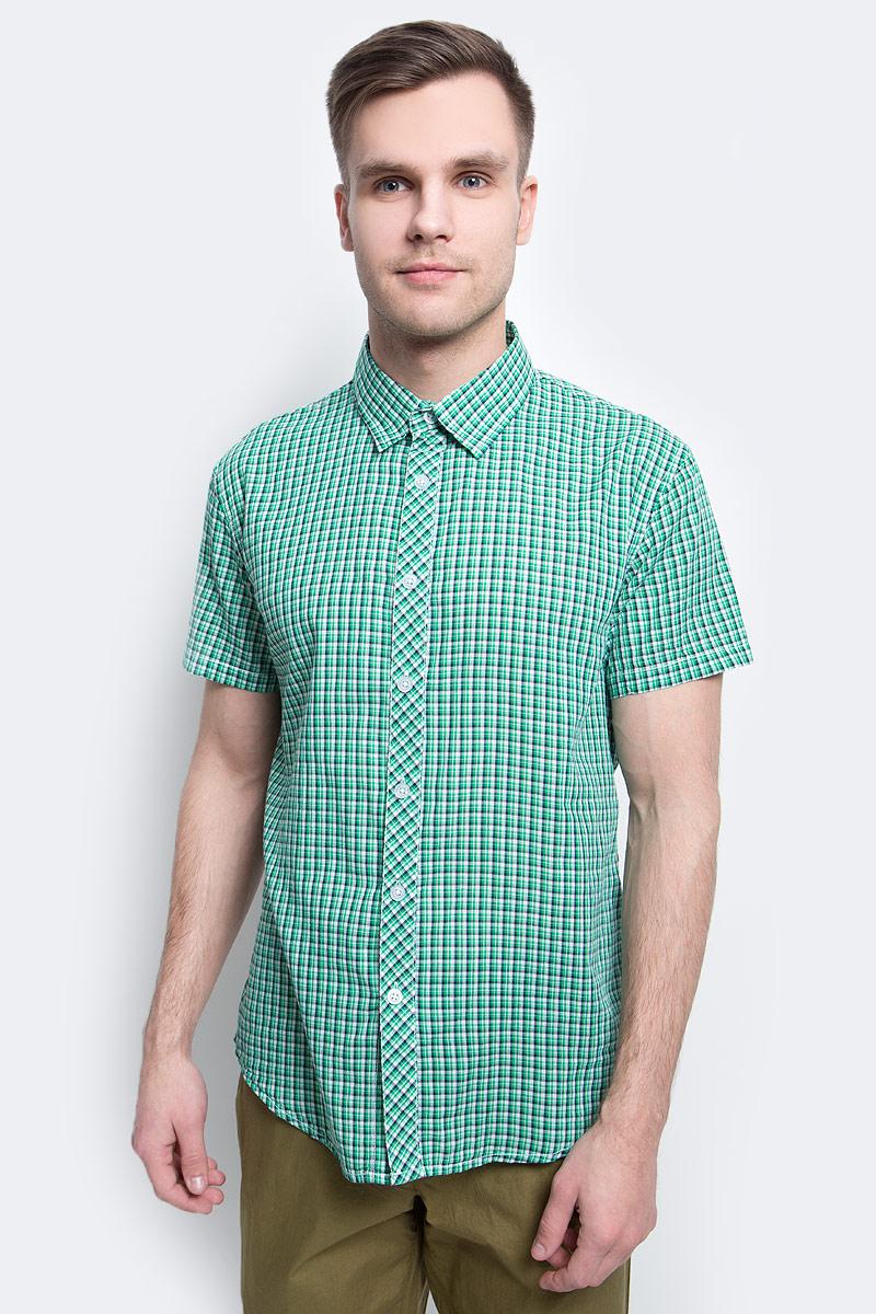 цена на Рубашка мужская Finn Flare, цвет: зеленый. S17-22015_519. Размер L (50)