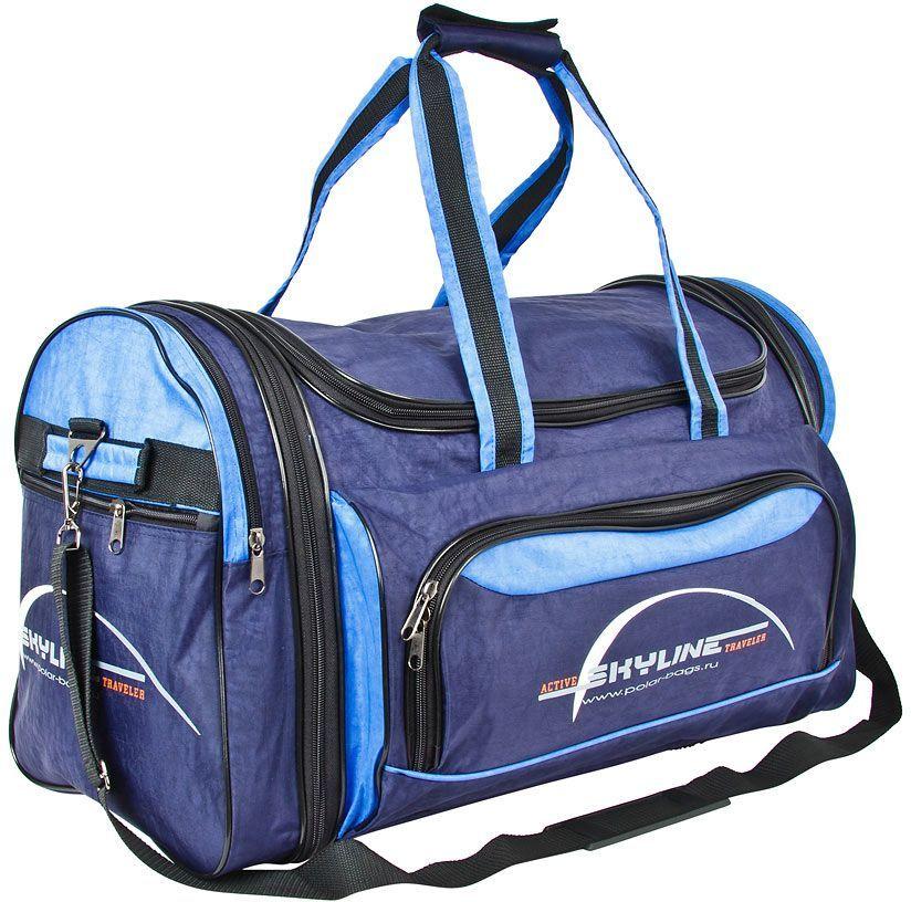 Сумка спортивная Polar, цвет: синий, голубой, 66,5 л. 6069.16069.1Спортивная сумка Polar выполнена из полиэстера с водоотталкивающей пропиткой. Сумка имеет одно большое отделение. На лицевой стороне и по бокам сумки расположеныкарманы на молнии. Изделиеоснащено двумя удобными текстильными ручками и съемным плечевым ремнем. Сумкараздвижная, на 5 см по бокам сумки.