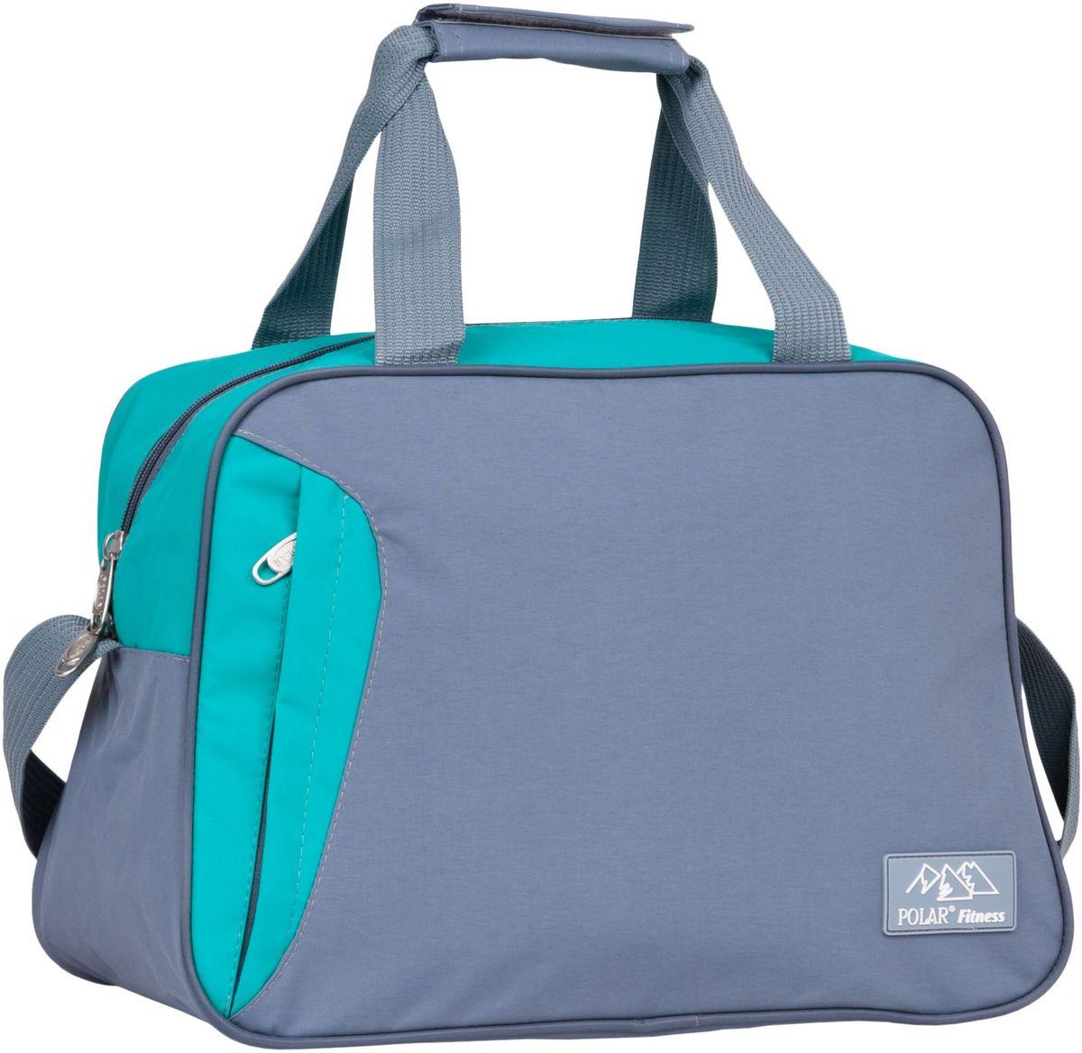 Сумка спортивная Polar, цвет: серый, бирюзовый, 30 л. П7071 рюкзак polar polar po001buawne5