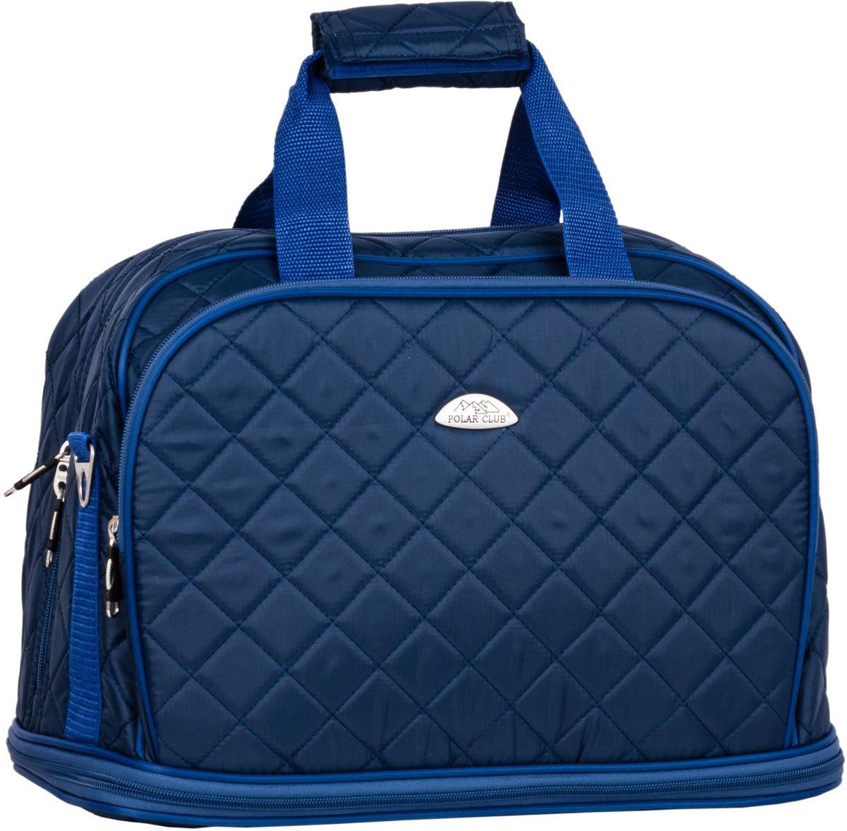 Сумка дорожная Polar Стежка, цвет: синий, 29 л. П7079П7079Дорожная сумка Polar Стежка выполнена из полиэстера. Сумка имеет одно большое отделение. С внешней стороны имеются два кармана на молнии. Изделие оснащено двумя удобными текстильными ручками и съемным плечевым ремнем. Сумка увеличивается в длину на 13 см.