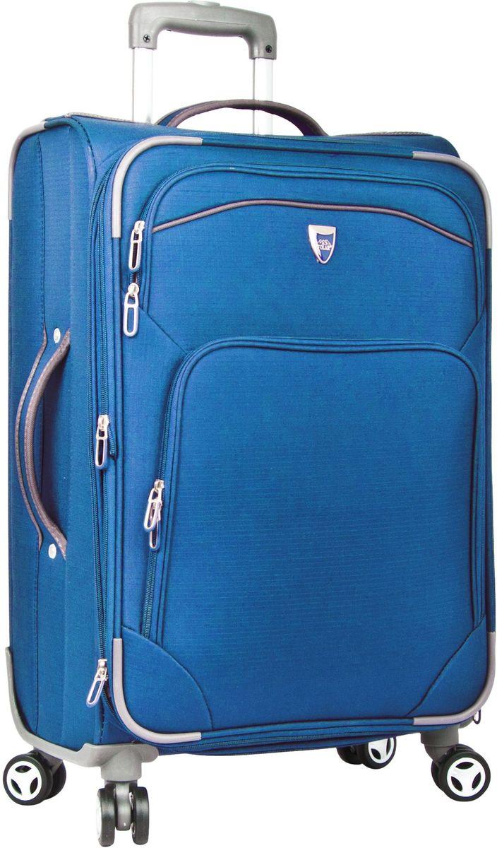Чемодан мягкий Polar, на колесах, цвет: синий, 37,5 л. Р4102 (20)