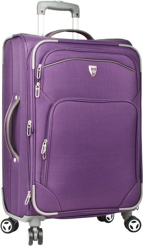 Чемодан мягкий Polar, на колесах, цвет: фиолетовый, 55,5 л. Р4102 (24)