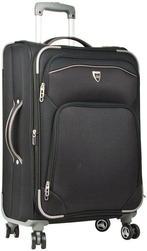 Чемодан мягкий Polar, цвет: черный, 37,5 л (20), 48 х 34 х 23 см. Р4102Р4102 (2-й) 20Супер-легкий чемодан Polar выполнен из текстиля. Основное отделение на подкладке из нейлона имеет фиксирующие ремни. Выдвигающаяся ручка выдвигается на 50 см, расположена внутри корпуса чемодана, что способствует большей прочности и защите от ударов при разгрузке/погрузке чемодана. Снаружи на передней стенке - два больших кармана на молнии. Надежные четыре колеса на подшипниках, вращаются на 360° градусов. Кодовый замок в комплекте не идет.