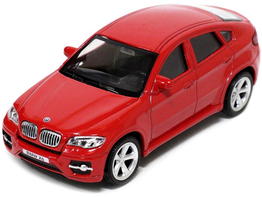 Pitstop Модель автомобиля BMW X6 цвет красный масштаб 1:43 машина pitstop bmw x6 red ps 444002 r