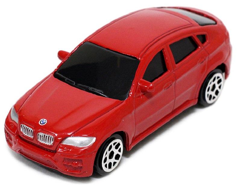 Pitstop Модель автомобиля BMW X6 цвет красный масштаб 1:64 машина pitstop bmw x6 red ps 444002 r