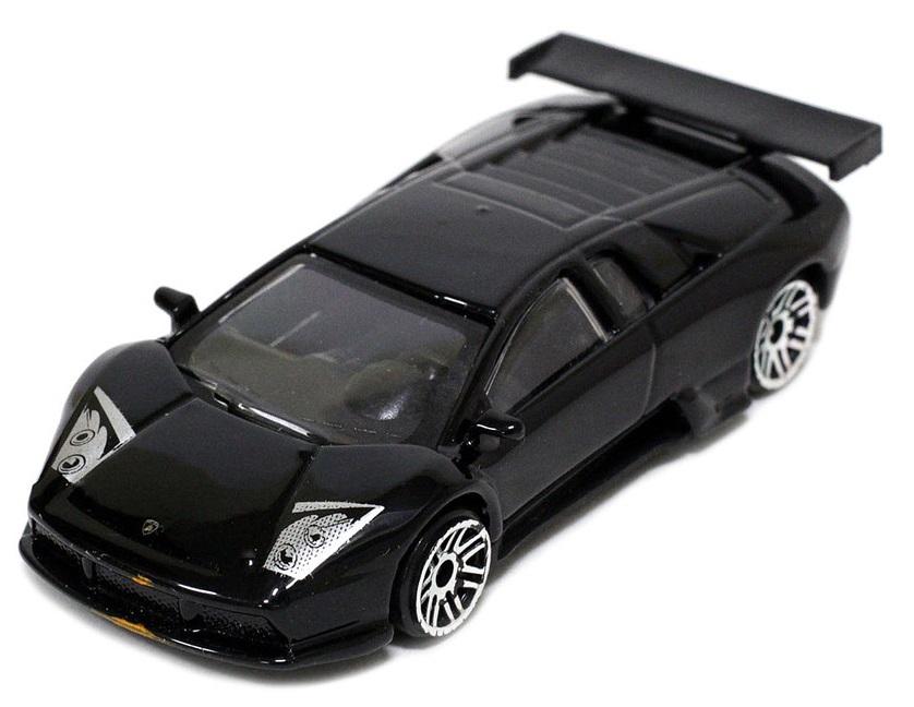 Pitstop Модель автомобиля Lamborghini Murcielago R-GT цвет черный масштаб 1:64