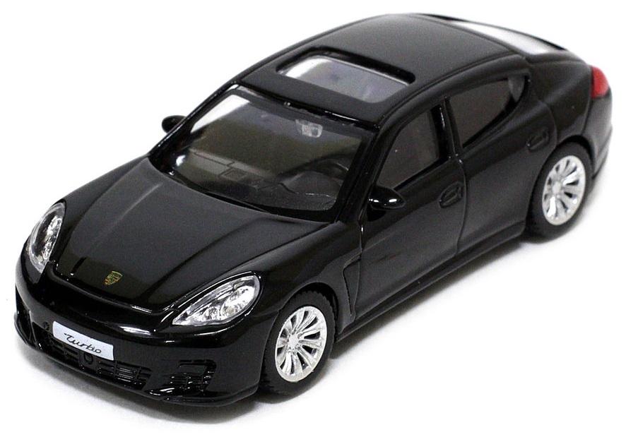 Pitstop Модель автомобиля Porsche Panamera Turbo цвет черный масштаб 1:43 uni fortunetoys модель автомобиля porsche cayenne turbo