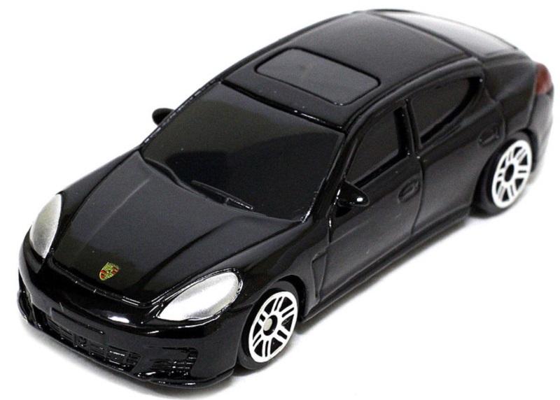 Pitstop Модель автомобиля Porsche Panamera Turbo цвет черный масштаб 1:64 uni fortunetoys модель автомобиля porsche cayenne turbo