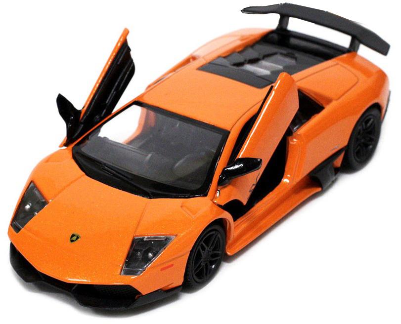 Pitstop Машинка инерционная Lamborghini Murcielago LP670-4 цвет оранжевый модель автомобиля lamborghini murcielago lp670 4 масштаб 1 43 39500