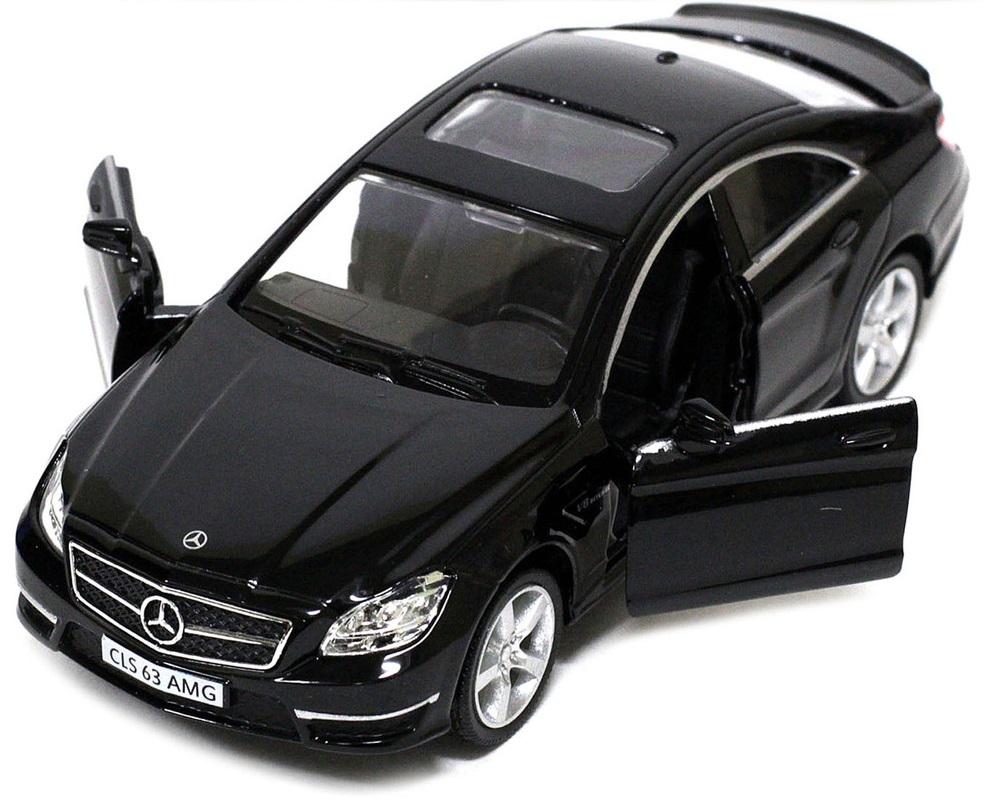 Pitstop Машинка инерционная Mercedes-Benz CLS 63 AMG C218 цвет черный пламенный мотор машинка инерционная volvo пожарная охрана