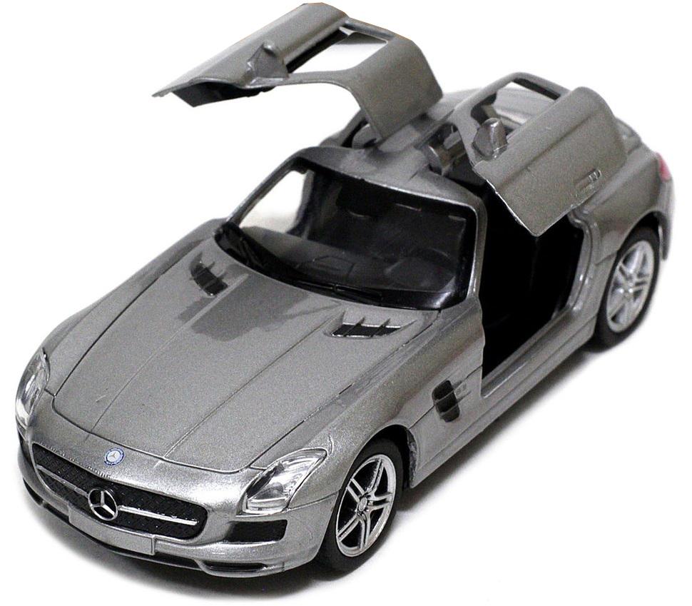 Pitstop Машинка инерционная Mercedes-Benz SLS AMG цвет серебристый mercedes а 160 с пробегом