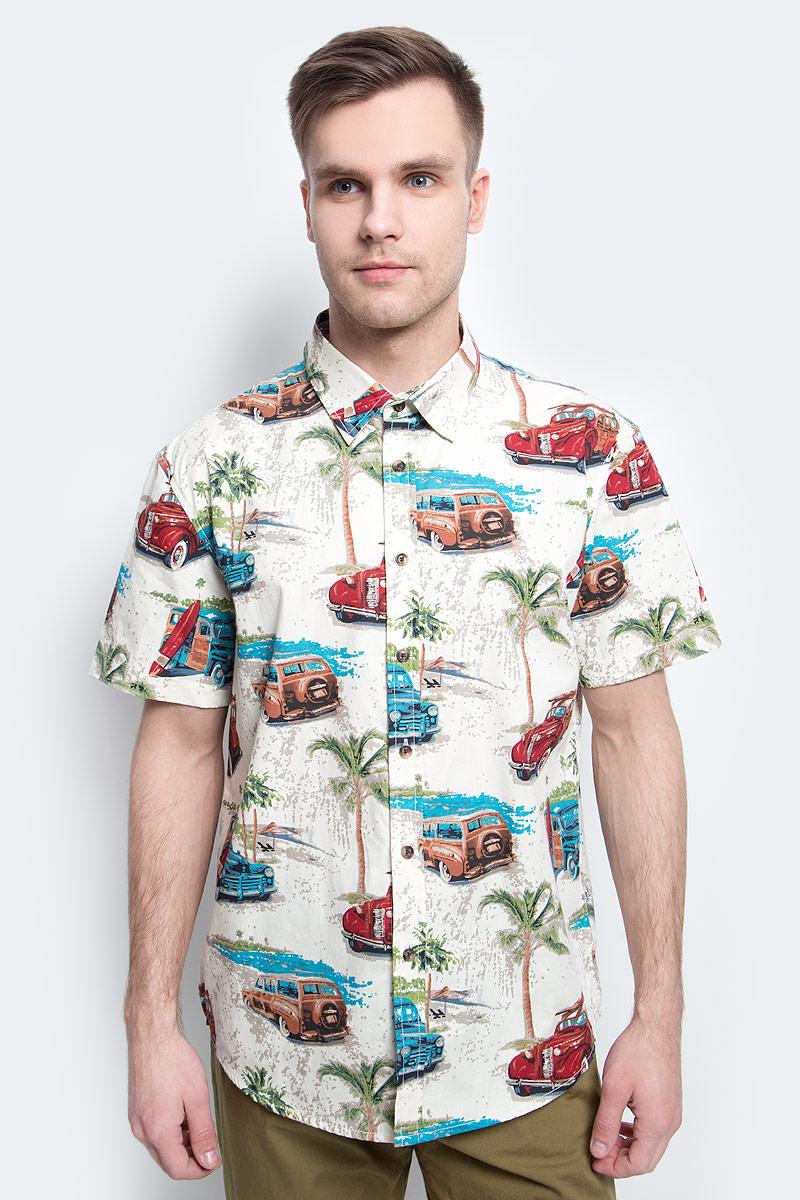 цена на Рубашка мужская Finn Flare, цвет: молочный. S17-24019_711. Размер XXXL (56)
