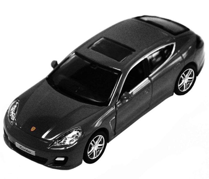 Pitstop Модель автомобиля Porsche Panamera Turbo цвет черный масштаб 1:32 машины pit stop машинка инерционная porsche panamera turbo 1 32