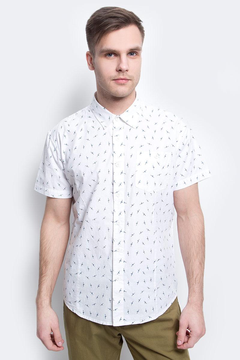 цена на Рубашка мужская Finn Flare, цвет: белый. S17-24016_201. Размер XXXL (56)