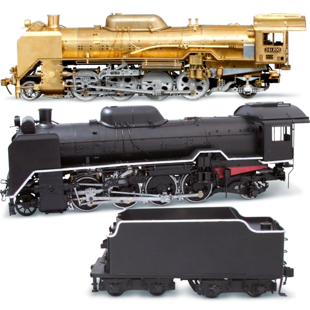 Сборная модель парового локомотива D51, масштаб 1:24. Китай