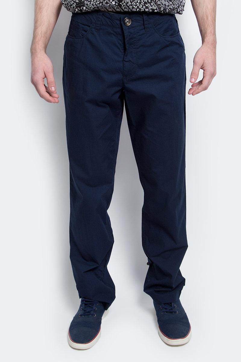 Купить Брюки мужские Finn Flare, цвет: темно-синий. S17-42004_101. Размер M (48)