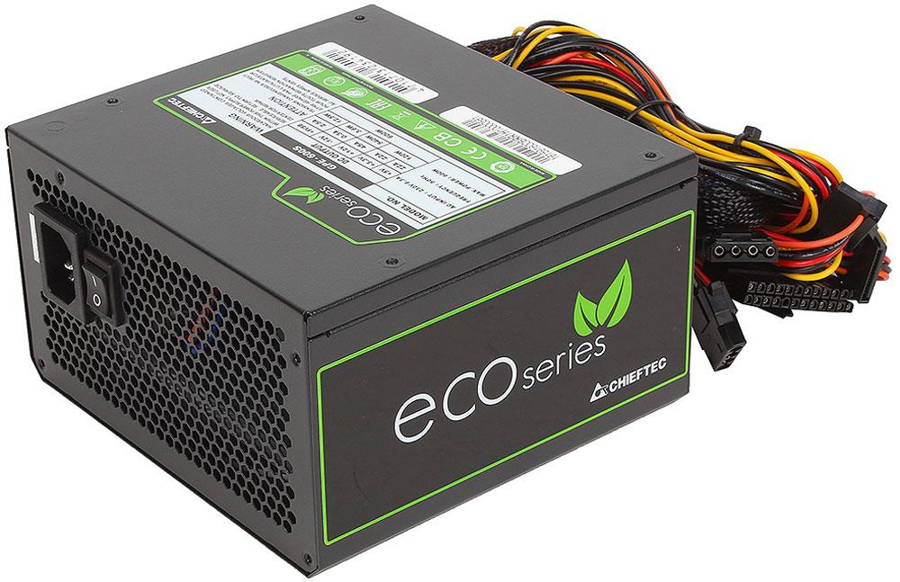 Chieftec GPE-600S блок питания для компьютера4710713234192Блок питания Chieftec GPE-600S относится к серии ECO, что открывает новую эпоху развития источников питания для ПК и отвечает самым современным европейским директивам энергоэффективности и охраны окружающей среды.В отличие от большинства конкурентов, данный блок ориентирован на фиксированное напряжение 230В в электрических сетях, имеет сертификат TUV и отвечает всем действующим стандартам качества ЕС (в том числе ENERGY STAR 5.0), что позволяют ему стать надёжным и эффективным компаньоном для современных ИТ-структур.